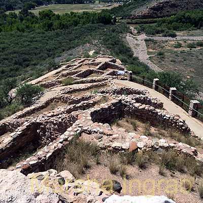 Cliff dwellings in Tuzigoot Pueblo