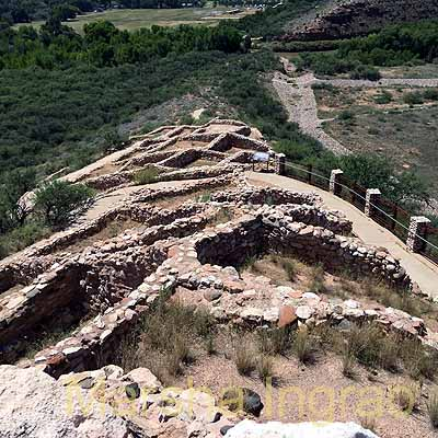 Cliff dwellings in Tuzigoot Pueblo