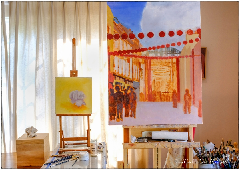 THE ARTIST'S STUDIO-WORKS IN PROCESS