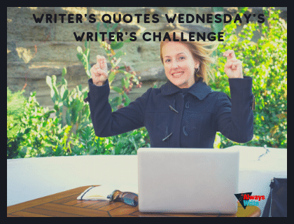 Writer's Quotes Wednesdays Writing Challenge logo
