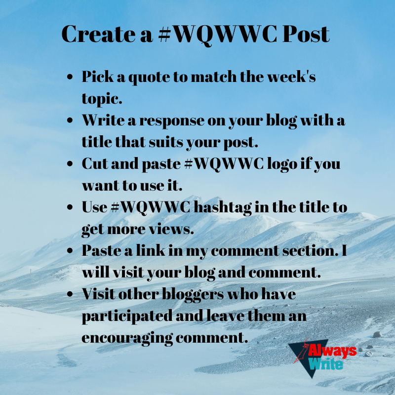How to Create a #WQWWC Post