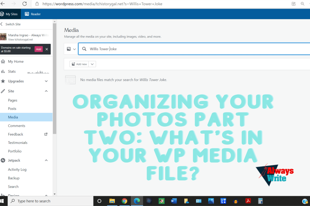 Organizing Your Photos Part Two: What's in YOUR WP Media File?