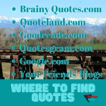 Where to find quotes