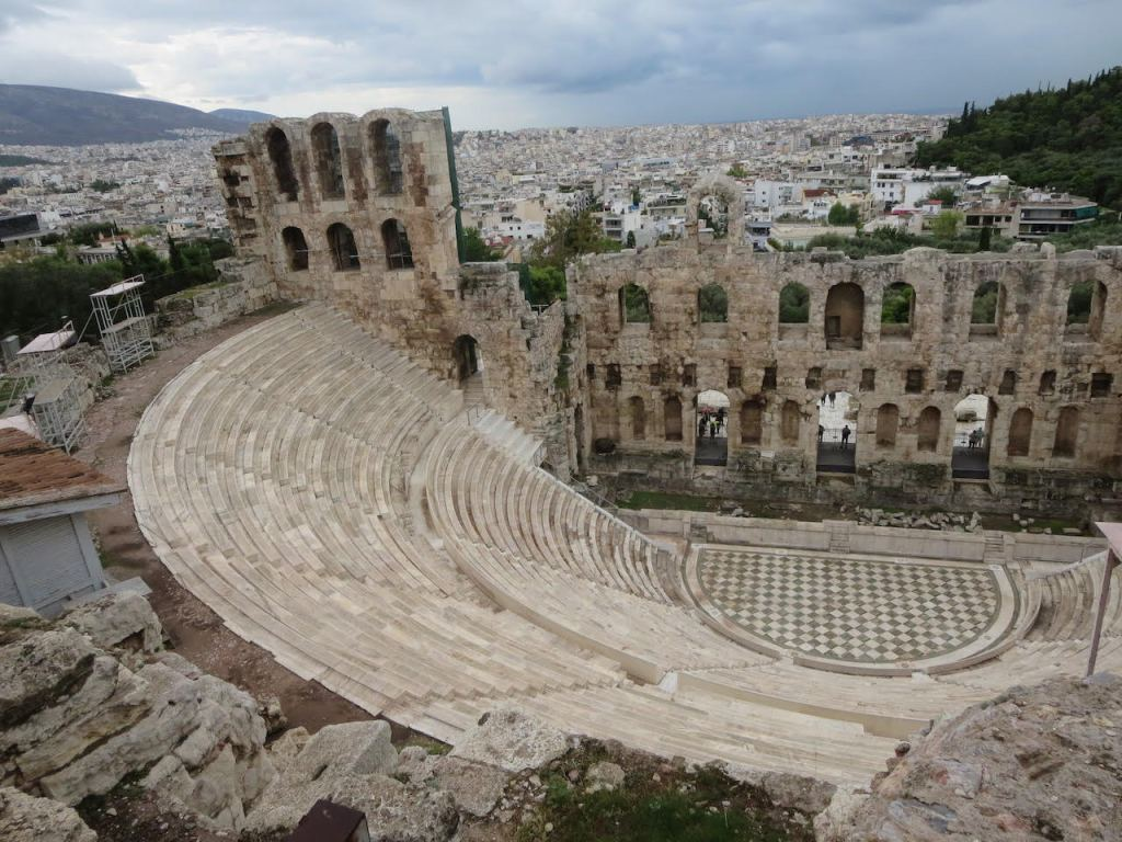 Amphitheatre at the Acropolis in Athens, Greece