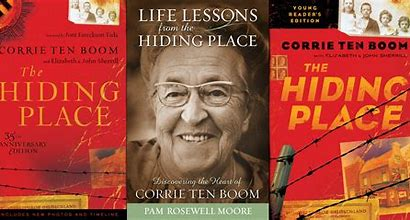 Corrie ten Boom book covers The Hiding Place