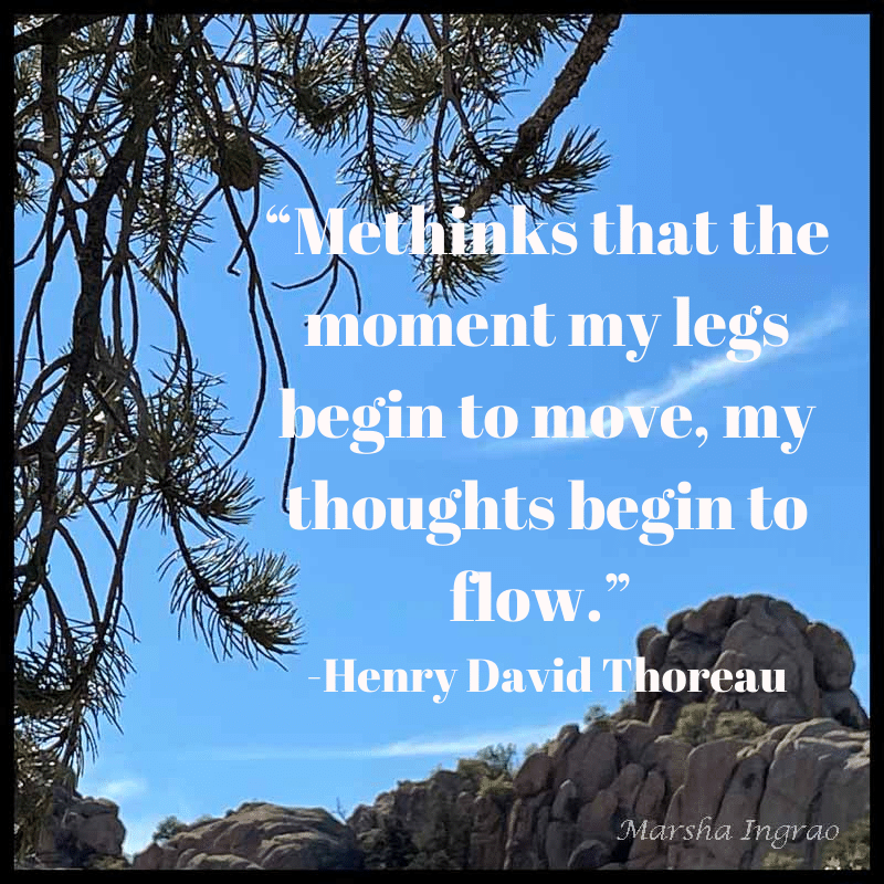 Constellation Trail - view of Granite Dells, Prescott AZ  Sample Meme for Writer's Quotes Wednesdays