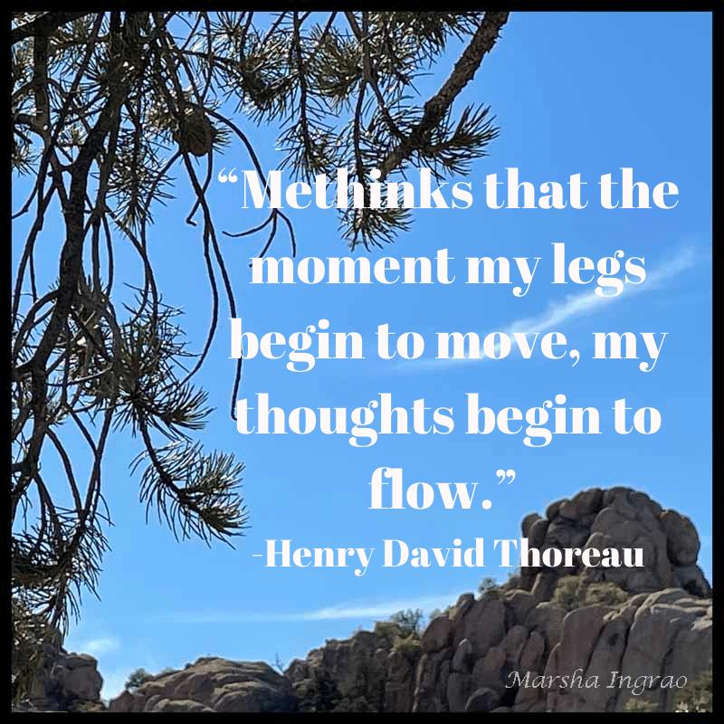 Constellation Trail - view of Granite Dells, Prescott AZ  Sample Meme for Writer's Quotes Wednesdays